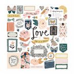 Crate - Fresh Bouquet - Chipboard Stickers (373176)